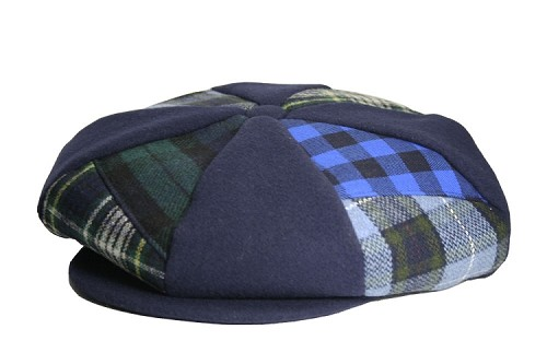 Navy Patch Combo Melton Wool Applejack One Size