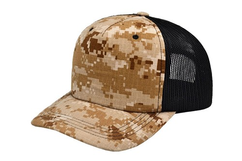 Cotton Camo Trucker Hat Desert Digital