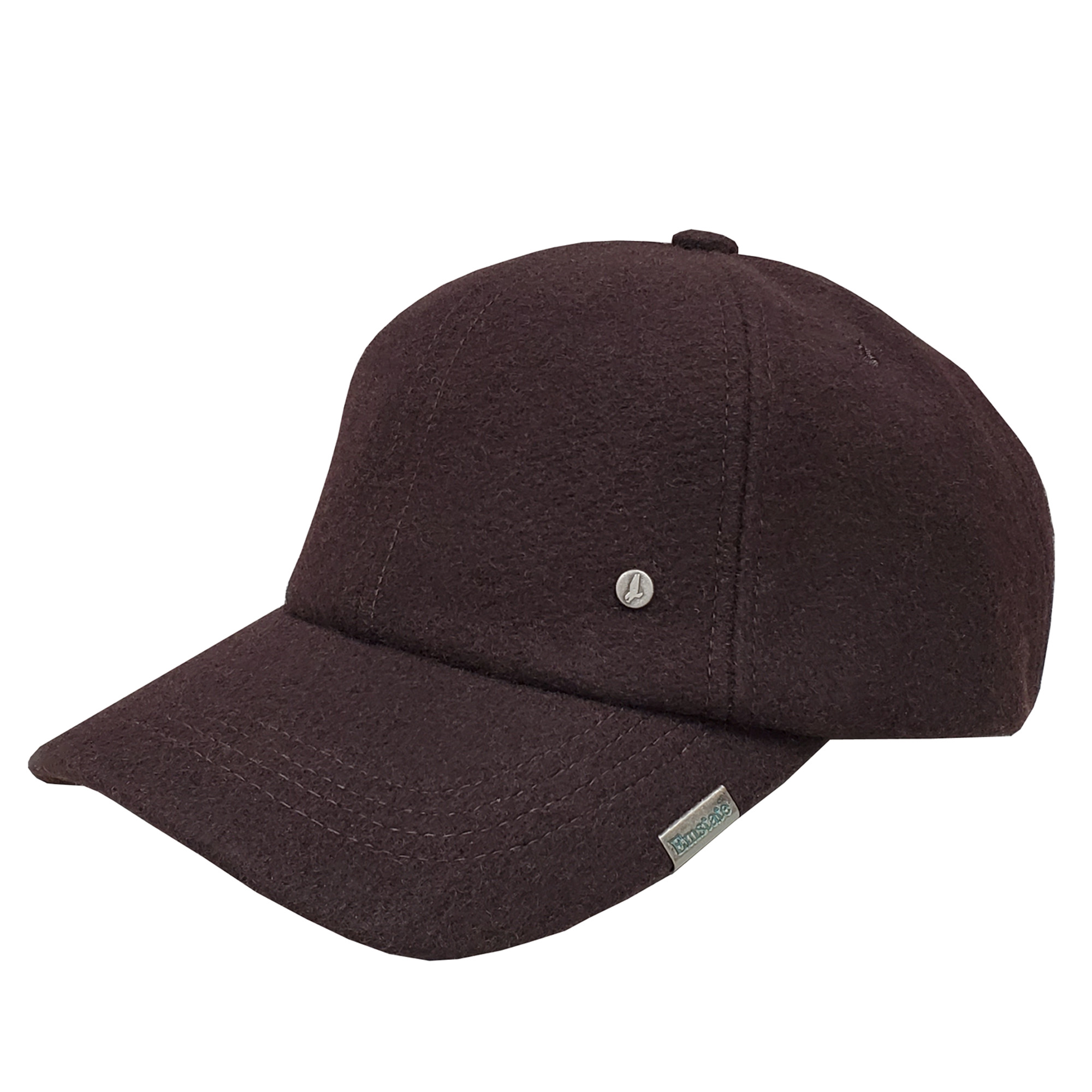 Emstate Brown Melton Wool Baseball Cap