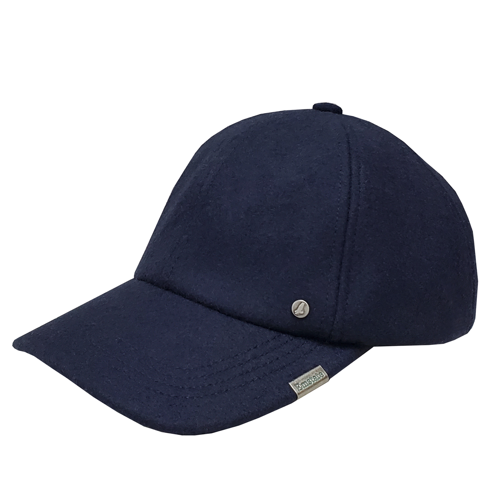 Emstate Navy Melton Wool Baseball Cap